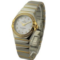 Omega Constellation 95 Lady's in 2 Tone w/ Diamond Bezel