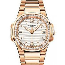 Patek Philippe 7010/1R-011 Nautilus Ladies 32mm White Arabic...