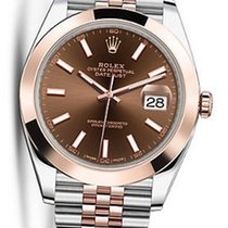 Rolex OYSTER PERPETUAL DATEJUST Chocolate DIAL 41MM 126301 NEW