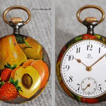Omega collector pocket watch with rare fruit decoration