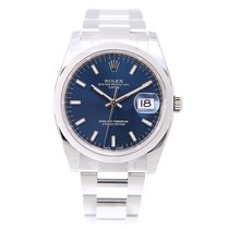Rolex Oyster Perpetual Date Stainless Steel Blue Automatic...