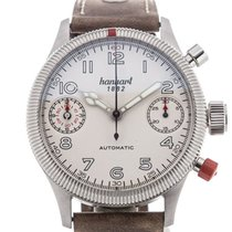 Hanhart Pioneer 45 Automatic White Dial