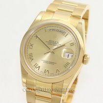 Rolex Day Date 118208 18K Yellow Gold Champagne Roman Dial`