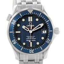 Omega Seamaster Midsize Blue Dial Bond Watch 2222.80.00 Box...