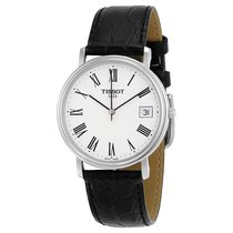 Tissot T-Classic Desire White Dial Black Leather Mens Watch...