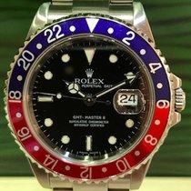 Rolex GMT - Master II Ref. 16710 Pepsi Rectangular Z4 box...