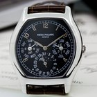 Patek Philippe Perpetual Calendar Tonneau Platinum / Black Dial