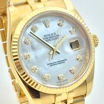 Rolex Datejust 36mm Gelbgold 18K MOP Perlmutt Dia Jubilee...