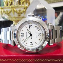 Cartier Pasha Ref. 2324 Automatic Steel 35mm White Dial Watch...
