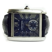 Cartier Tank Stainless Steel Blue Automatic