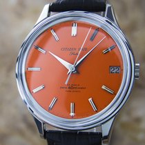 Citizen Date Flake Orange Manual Mens 1960s Dress Watch D107