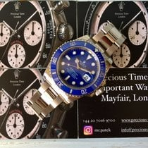 Rolex Submariner 116619LB White Gold Smurf Box & Papers