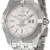 Breitling Galactic 41 Silver Dial Mens Watch A49350L2-G699SS
