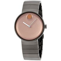 Movado Edge Copper Dial Stainless Steel Men's Watch 3680023