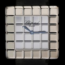 Chopard 18k White Gold Ice Cube Ladies Wristwatch B&P 12/7407