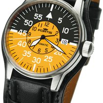 Fortis Flieger Cockpit Yellow Automatic
