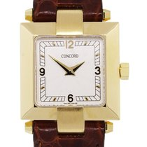Concord La Scala   Gold Square Face Ladies Watch