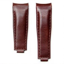 Everest Curved End Leather Strap With Deployant Buckle - Brown