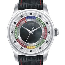 Azimuth Round-1 Grand Baccarat Game Watch Mens Mid Diamond Set...