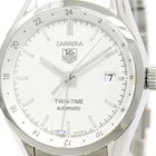 TAG Heuer Carerra Twin Time Steel Automatic Mens Watch Wv2116...