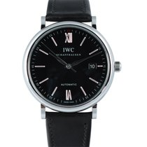 IWC Portofino Automatic Black Steel/Leather 40mm