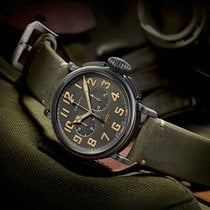 Zenith Pilot Ton Up Café Racer Automatik Chronograph Neu Original