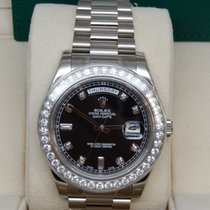 Rolex 218349 Day-Date II Presidential  Black Diamond Dial