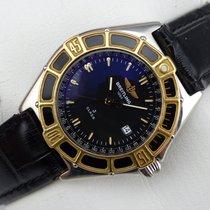 Breitling Lady J Damenuhr - Stahl - Goldlünette - D52063