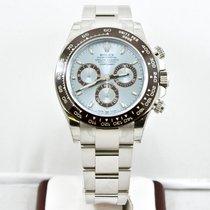 Rolex 40mm Platinum Daytona Watch 116506 Ice Blue Dial
