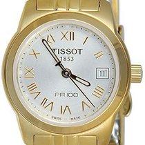 Tissot Women's T0492103303300 Pr 100 Gold-tone Silver Dial...