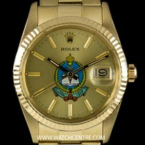 Rolex 14k Y/G Saudi Military Dial Datejust Gents Wristwatch 15037