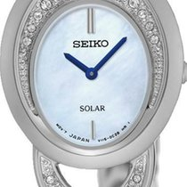 Seiko Solar SUP295P1 Elegante Damenuhr Mit Kristallsteinen