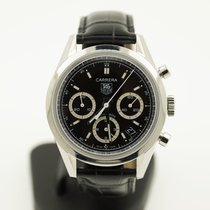 TAG Heuer Carrera Chronograph Deployable Clasp Steel 39 mm (2004)
