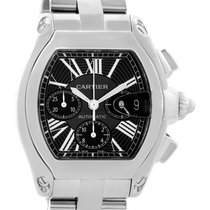Cartier Roadster Chronograph Black Dial Steel Automatic Watch...