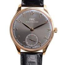 IWC Portuguese 18k Rose Gold Gray Manual Wind IW545406