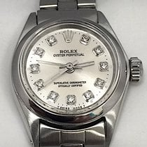 Rolex Ladies Rolex Stainless Steel Oyster Perpetual Watch...
