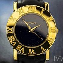 Mondaine Mens Rare Swiss Gold-plated Quartz Dress Watch Circa...