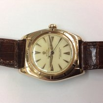 Rolex Bubble Back pink gold in stainless steel ref.5011