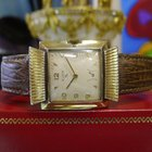 Elgin 10k Gold Plated Stainless Steel Fancy Lugs Watch