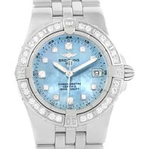 Breitling Starliner Mother Of Pearl Diamond Watch A71340 Box...