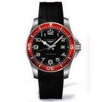 Longines HydroConquest Herrenuhr Quarz 41mm schwarz rot...