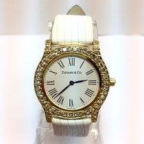 Tiffany & Co. 18k Gold Ladies Watch Large Diamonds 1.5tcw ...