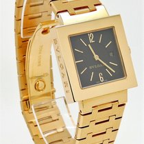 Bulgari 18K Gold Quartz WATCH Quadrato SQ 22G Box RT $20,000