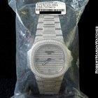 Patek Philippe 5719g Nautilus Jumbo 18k White Pave Diamond...