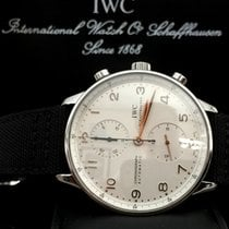 IWC Portuguese Chronograph Steel Rose Index Canvas Strap (41 mm)