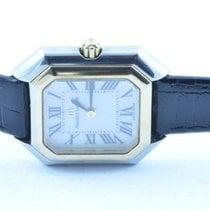 Maurice Lacroix Damen Uhr 25mm Stahl/stahl Quartz Rar Vergoldet