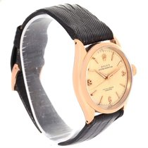 Rolex Oyster Perpetual 18k Rose Gold Vintage Chronometre Watch...