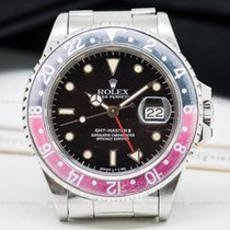 """Rolex 16760 GMT Master """"FAT LADY"""" Red / Black (25068)"""