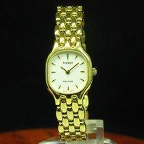 Tissot Stylist Gold Mantel / Edelstahl Damenuhr / Ref E242...