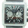 Franck Muller Cortez Conquistador Chrono, Steel ,FULL DIAMONDS